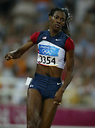 DeeDee Trotter of the United States finished fifth in the women's 400 meters in a personal-best 50.50 in the 2004 Olympics in Athens, Greece on Tuesday, August 24, 2004.