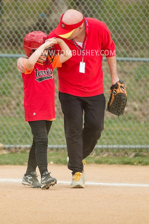 Warwick, New York - Warwick Little League girls' softball game on May 1, 2015.