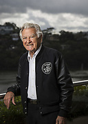 Former Australian Prime Minister Bob Hawke on the balcony of his Sydney home.