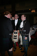 Viscount Dupplin and Lord Harry Dalmany, The Royal Caledonian Ball 2007. Grosvenor House. 4 May 2007.  -DO NOT ARCHIVE-© Copyright Photograph by Dafydd Jones. 248 Clapham Rd. London SW9 0PZ. Tel 0207 820 0771. www.dafjones.com.