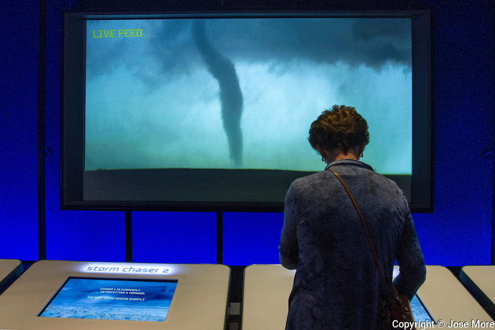 Chicago&rsquo;s Museum of Science and Industry (MSI) is the largest science museum in the Western Hemisphere. A storm and weather exhibit explaining weather patterns, tsunami, avalanche, and tornados.<br /> Photography by Jose More