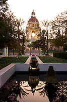 Plaza Las Fuentes Pond Reflection, Pasadena City Hall, California