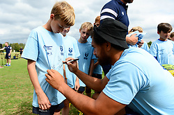 Steven Luatua signs autographs for fans at the Bristol Bears Community Foundation Summer Holiday Camp at Old Bristolians RFC - Mandatory by-line: Dougie Allward/JMP - 15/08/2018 - Rugby