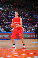 Ohio State guard Jon Diebler #33 shoots a free throw during the 2K Sports Classic at Madison Square Garden. (Mandatory Credit: Delane B. Rouse/Delane Rouse Photography)