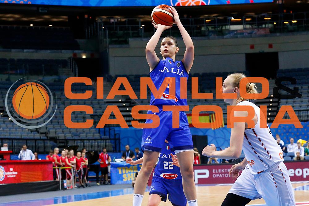 Cecilia Zandalasini<br /> Italia - Belgio<br /> Nazionale Femminile Senior - EUROBASKET 2017 - Quarti di Finale<br /> O2 Arena, Praga, 22/06/2017<br /> Foto Ciamillo-Castoria / M.Brondi