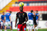 OSTERSUND, SWEDEN - JULY 21: Alhaji Gero of Ostersunds FK during the Allsvenskan match between Ostersunds FK and Trelleborgs FF on July 21 at Jamtkraft Arena, 2018 in Gothenburg, Sweden. Photo by Johan Axelsson/Ombrello ***BETALBILD***
