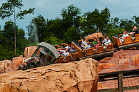 Big Thunder Mountain Railroad, Frontierland, Magic Kingdom, Walt Disney World, Orlando, Florida USA