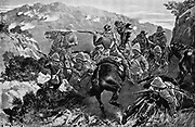 Picket of 13th Hussars surprised near the Tugela River (Hussar Hill). 2nd Boer War 1899 -1902.