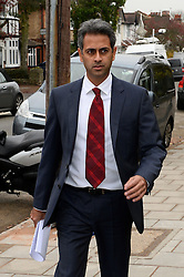 Charles Saatch's accountant Rahul Gajjar who also gave evidence.<br /> Charles Saatchi arrives at Isleworth Court to give evidence during the fraud trial against Nigella Lawson's two former assistants, Elisabetta Grillo and Francesca Grillo.<br /> Thursday, 28th November 2013. Picture by Ben Stevens / i-Images
