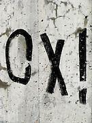 Ecriture, tags, graffitis lettres et signes. © Romano P. Riedo