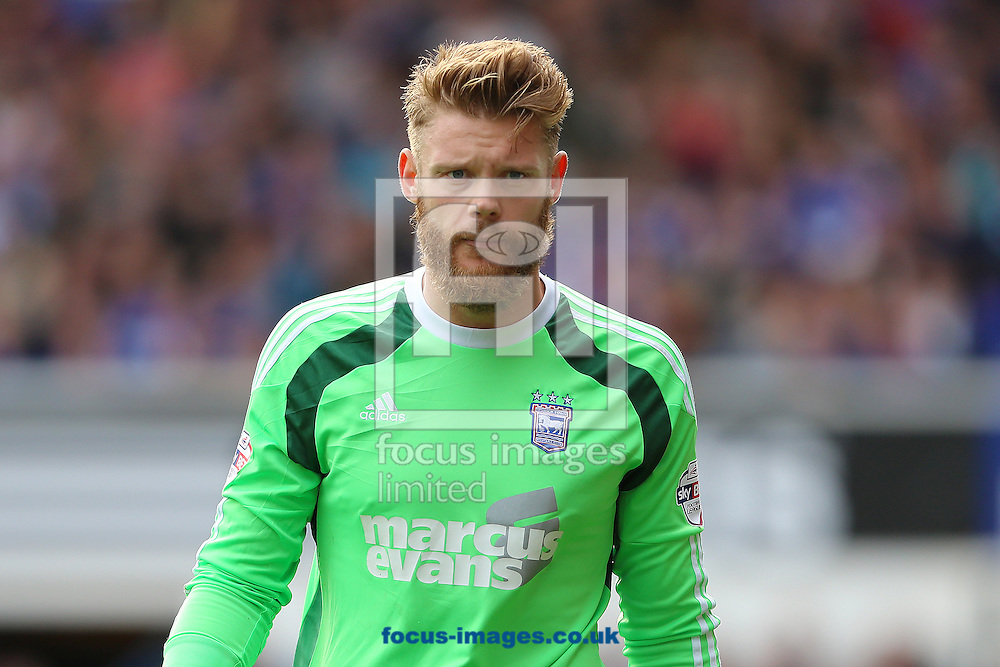 Dean Gerken of Ipswich Town during the Sky Bet Championship match at Portman Road, Ipswich<br /> Picture by Richard Calver/Focus Images Ltd +447792 981244<br /> 18/10/2014