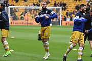 Sheffield Wednesday forward Jordan Rhodes (7) warms up during the EFL Sky Bet Championship match between Wolverhampton Wanderers and Sheffield Wednesday at Molineux, Wolverhampton, England on 29 April 2018. Picture by Alan Franklin.