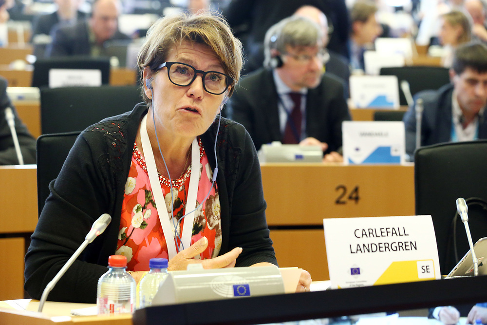 12 May 2017, 123rd Plenary Session of the European Committee of the Regions <br /> Belgium - Brussels - May 2017 <br /> <br /> Mrs CARLEFALL LANDERGREN Ulrika,Member of Kungsbacka Municipal Council, Sweden<br /> <br /> &copy; European Union / Patrick Mascart