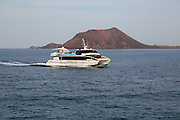 Tourist passenger glass bottom boat 'Princes Ico' at Corralejo, Fuerteventura, Canary Islands, Spain