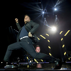 Olly Murs on stage at the SSE Hydro