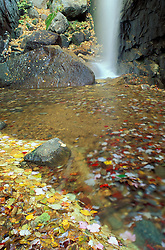Pitcher Falls in New Hampshire's White Mountains. Fall. Waterfall.  Champney Falls Trail, NH