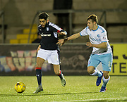 Dundee&rsquo;s Faissal El Bakhtaoui and Forfar's Murray MacKintosh - Forfar Athletic v Dundee, Martyn Fotheringham testimonial at Station Park, Forfar.Photo: David Young<br /> <br />  - &copy; David Young - www.davidyoungphoto.co.uk - email: davidyoungphoto@gmail.com