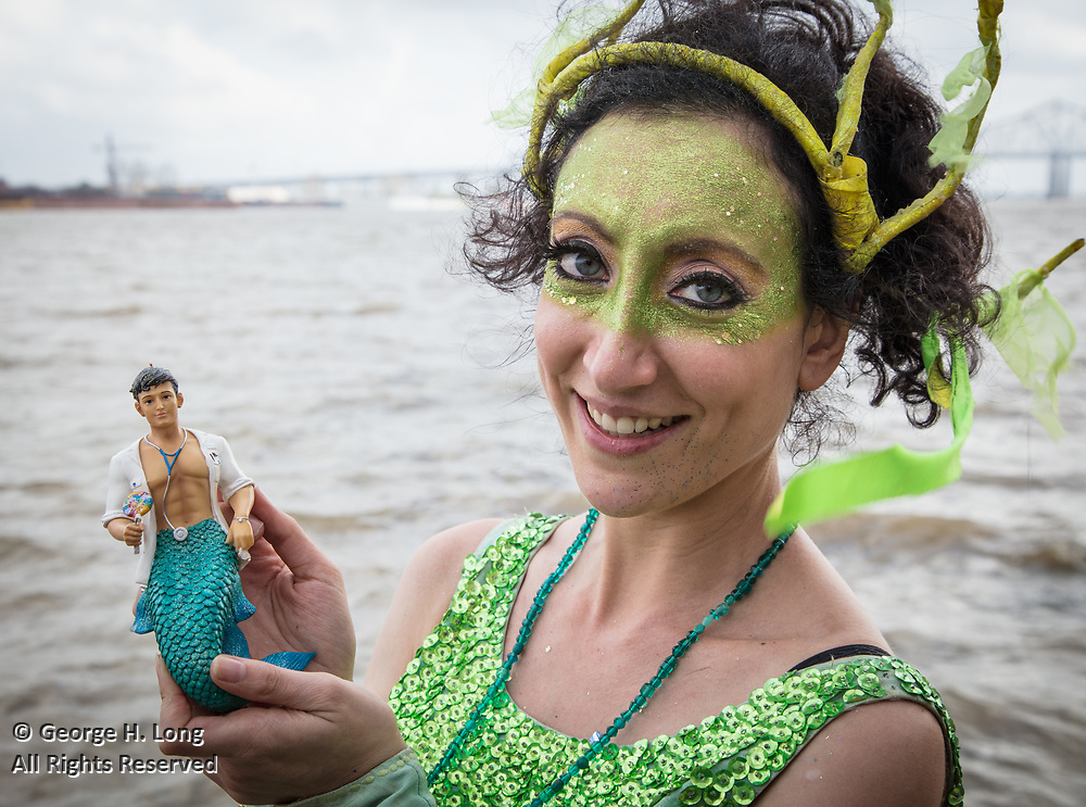 Trixie Minx with her merman at Mardi Gras in New Orleans 2017