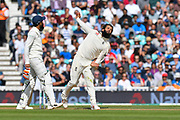 Moeen Ali of England bowling during day 3 of the 5th test match of the International Test Match 2018 match between England and India at the Oval, London, United Kingdom on 9 September 2018.