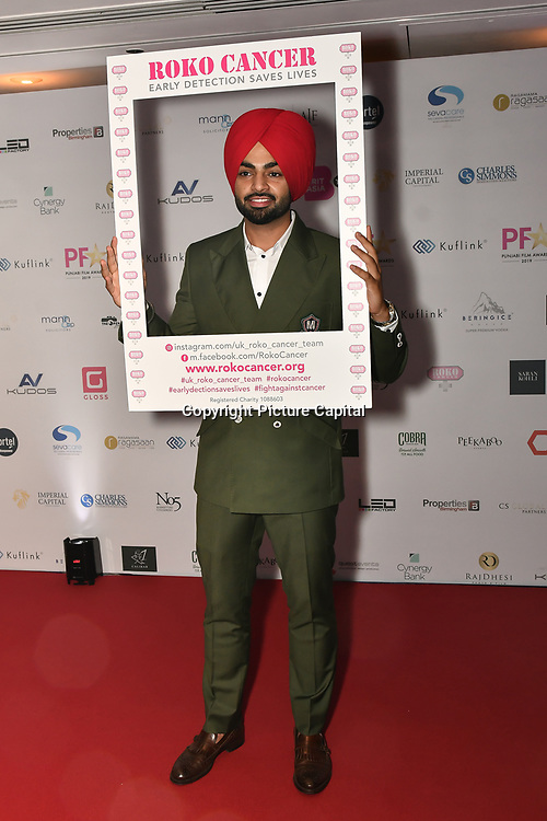 Jordan Sandhu is a singer attend the BritAsiaTV Presents Kuflink Punjabi Film Awards 2019 at Grosvenor House, Park Lane, London,United Kingdom. 30 March 2019