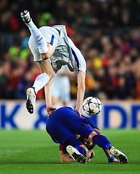 Andreas Christensen of Chelsea challenges Luis Suarez of Barcelona - Mandatory by-line: Matt McNulty/JMP - 14/03/2018 - FOOTBALL - Camp Nou - Barcelona, Catalonia - Barcelona v Chelsea - UEFA Champions League - Round of 16 Second Leg