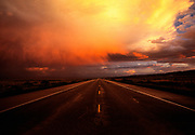 Image of stormy sky along Highway 160 in Arizona, American Southwest