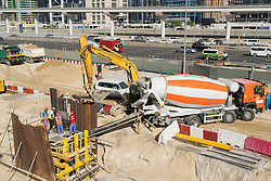 construction site beside  Sheikh Zayed Road in Dubai United Arab Emirates