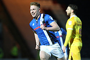 GOAL Callum Camps celebrates scoring 3-2 during the EFL Sky Bet League 1 match between Rochdale and Millwall at Spotland, Rochdale, England on 21 March 2017. Photo by Daniel Youngs.