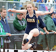 Megan McDonnell of Council Rock South competes in the 300 hurdles during the Central Bucks West Relays at Central Bucks West High School Saturday April 23, 2016 in Doylestown, Pennsylvania. (Photo by William Thomas Cain)