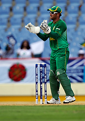 South Africa wicketkeeper Mark Boucher during the Super Eights match at Beausejour Stadium, St Lucia.