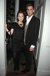 OLIVIA GRANT and actor OLIVER JACKSON-COHEN son of designer Betty Jackson at a party to launch the Dom Perignon OEotheque 1995 held at The Landau, Portland Place, London W1 on 26th February 2008.<br />