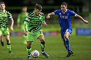 Forest Green Rovers Josh March(28) during the EFL Sky Bet League 2 match between Forest Green Rovers and Carlisle United at the New Lawn, Forest Green, United Kingdom on 28 January 2020.