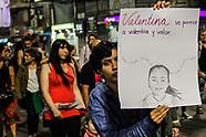 Marcha ni una menos por femisidio de la niña Valentina