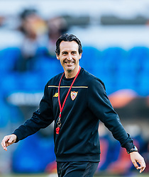 17.05.2016, St. Jakob Park, Basel, SUI, UEFA EL, FC Liverpool vs Sevilla FC, Finale, im Bild Trainer Unai Emery (FC Sevilla) // Manager Unai Emery (FC Sevilla) during the Training in front of the Final Match of the UEFA Europaleague between FC Liverpool and Sevilla FC at the St. Jakob Park Stadium in Basel, Switzerland on 2016/05/17. EXPA Pictures © 2016, PhotoCredit: EXPA/ JFK