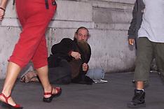 Homeless man London 2000