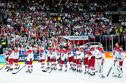 Players of Czech Republic look dejected after the Ice Hockey match between USA and Czech Republic at Third place game of 2015 IIHF World Championship, on May 17, 2015 in O2 Arena, Prague, Czech Republic. Photo by Vid Ponikvar / Sportida
