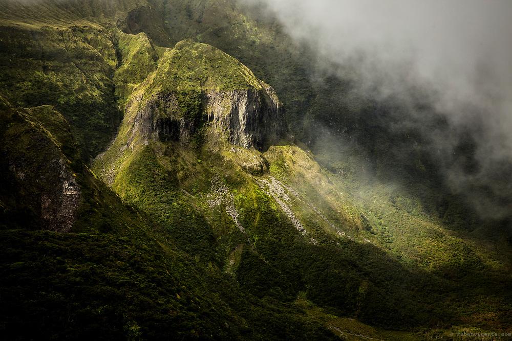Faial caldera cliff. Azores, Portugal