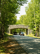 Bridge over Park Loop Road in Acadia National Park, near Bar Harbor, Maine, USA.