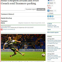 Stephen Ireland scores for Stoke City in the Capital One Cup<br /> Picture used in the Guardian