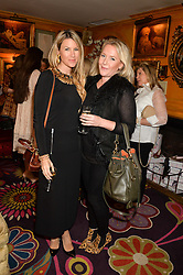 Left to right, SADIE MANTOVANI and LUCY MYNERS at a party to celebrate Alice Naylor-Leyland's Collaboration with French Sole held at Annabel's, 44 Berkeley Square, London on February 2nd 2016