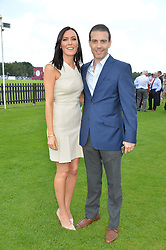 WILL & LINZI STOPPARD at The Royal Salute Coronation Cup Polo held at Guards Polo Club,  Smiths Lawn, Windsor Great Park, Egham on 23rd July 2016.