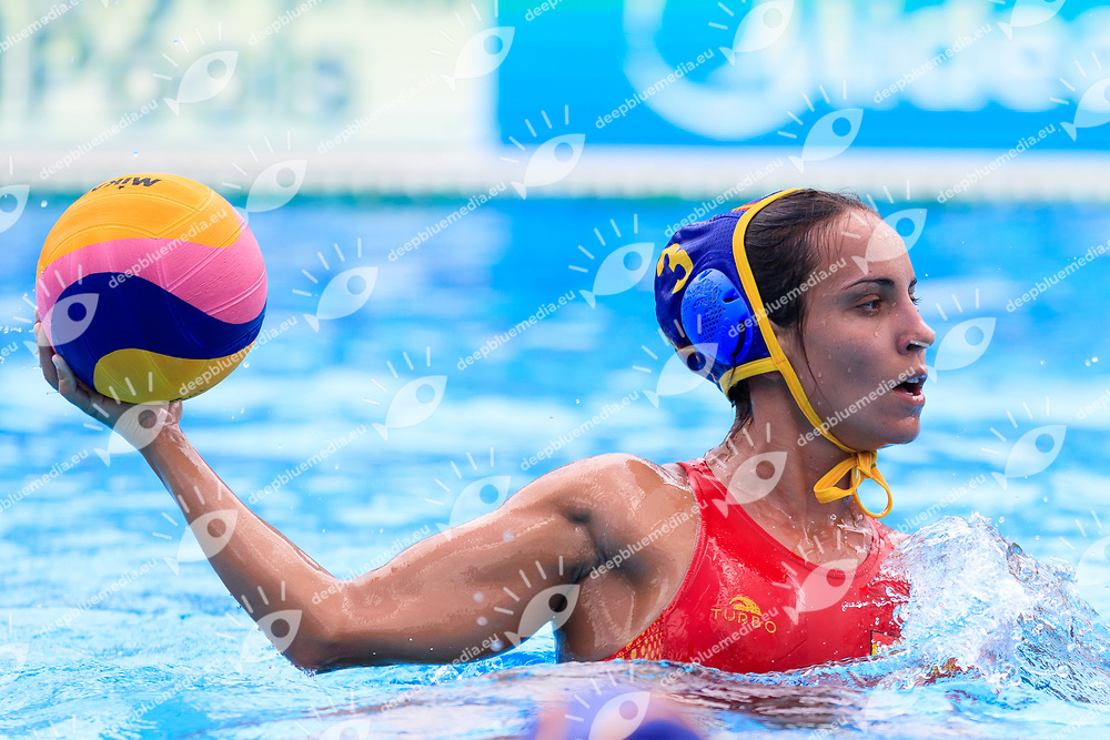 Anna Espar of Spain<br /> New Zealand (White cap) vs Spain (Blue Cap) Water Polo - Preliminary round<br /> Day 03 16/07/2017 <br /> XVII FINA World Championships Aquatics<br /> Alfred Hajos Complex Margaret Island  <br /> Budapest Hungary July 15th - 30th 2017 <br /> Photo @Marcelterbals/Deepbluemedia/Insidefoto