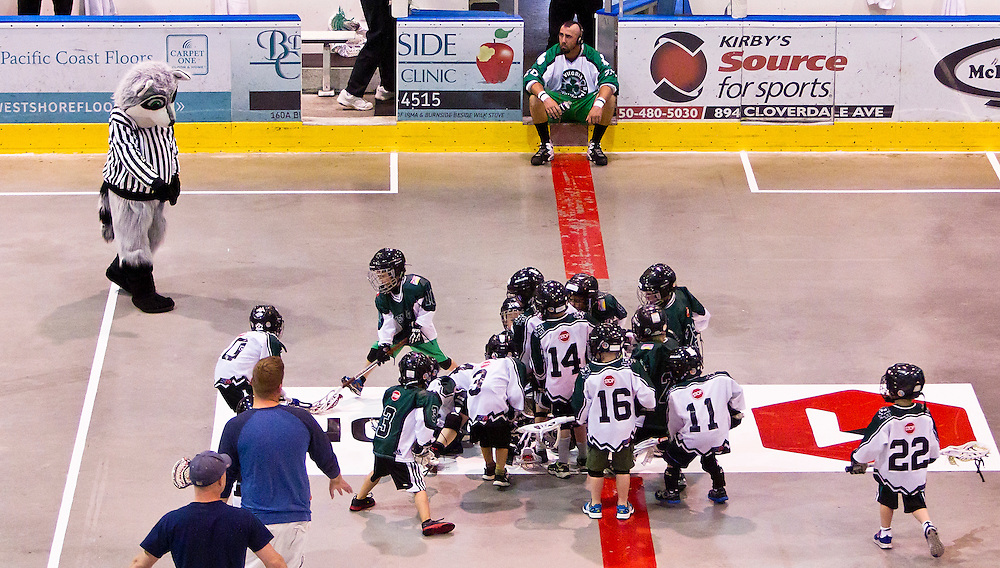 The Victoria Shamrocks Senior A box indoor lacrosse club based in Victoria, British Columbia play the Coquitlam Adanacs May 17, 2013 photo  Canadian Lacrosse Association....