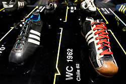 Football boots from different World Cups through history at Adidas central for FIFA World Cup 2010 on June 30, 2010 at Nelson Mandela Square in Sandton Convention Centre in Johannesburg. (Photo by Vid Ponikvar / Sportida)