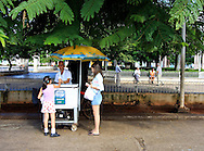 Ice cream stand in Plaza Marti, Remedios, Cuba.