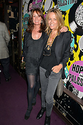 Left to right, TRICIA RONANE and GEORGIA BYNG at Hoping's Greatest Hits - the 10th Anniversary of The Hoping Foundation's charity benefit held at Ronnie Scott's, 47 Frith Street, Soho, London on 16th June 2016.