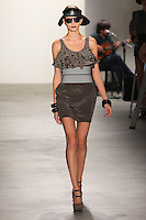 NEW YORK - SEPTEMBER 10:  Melodie Dagault walks the runway wearing Vena Cava Spring 2010 during Mercedes-Benz Fashion Week at Milk Studios on September 10, 2009 in New York City