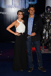 Charlotte Jackson and Chris Coleman attend The World Premiere of 'Robocop'. BFI IMAX, London, United Kingdom. Wednesday, 5th February 2014. Picture by Chris Joseph / i-Images