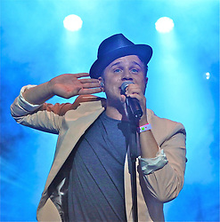 © Licensed to London News Pictures. 07/09/2013. Gibraltar, UK Olly Murs performing live at the Gibraltar Music Festival 2013 which is part of a whole week of celebrations leading up to Gibraltar National Day.. Photo credit : Donovan Torres/LNP