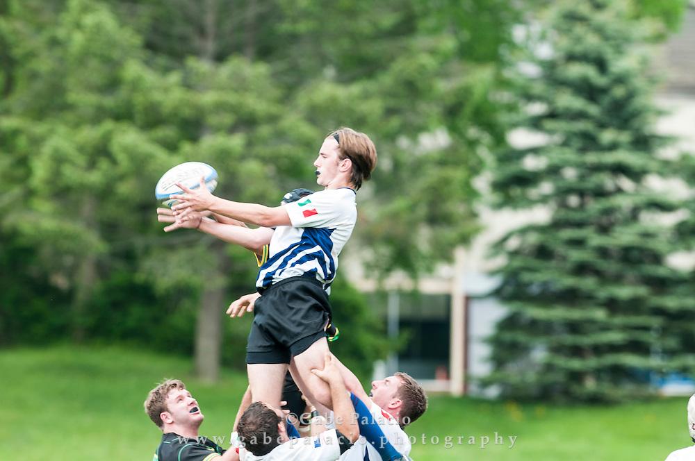 Boys Varsity Rugby at  the Harvey School on May 17, 2015. (photo by Gabe Palacio)